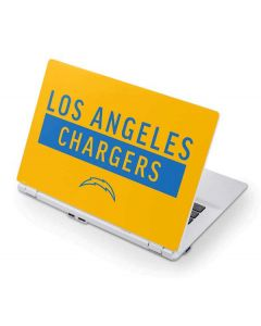Los Angeles Chargers Yellow Performance Series Acer Chromebook Skin