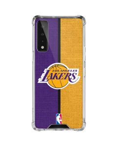 Los Angeles Lakers Canvas LG Stylo 7 5G Clear Case