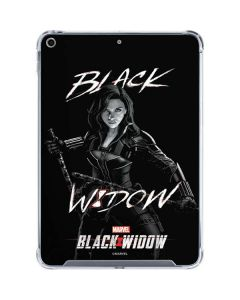 Black and White Black Widow iPad 10.2in (2019-20) Clear Case