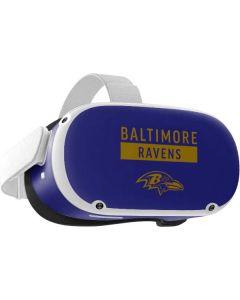 Baltimore Ravens Purple Performance Series Oculus Quest 2 Skin