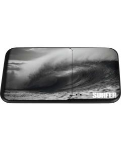 SURFER Black and White Wave Wireless Charger Duo Skin