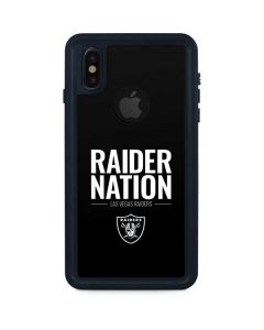 Las Vegas Raiders Team Motto iPhone XS Waterproof Case