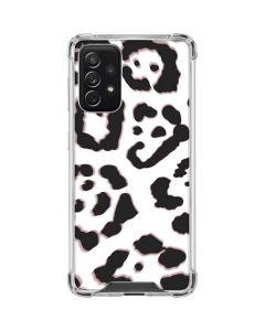 B&W Leopard Galaxy A72 5G Clear Case