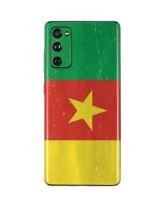 Cameroon Flag Distressed Galaxy S20 Fan Edition Skin