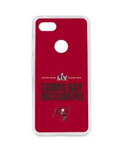 Super Bowl LV Champions Tampa Bay Buccaneers Google Pixel 3 XL Clear Case