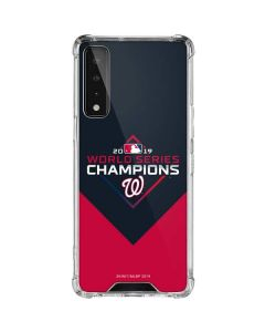 Washington Nationals 2019 World Series Champions LG Stylo 7 5G Clear Case