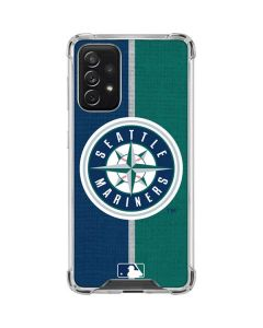 Seattle Mariners Split Galaxy A72 5G Clear Case