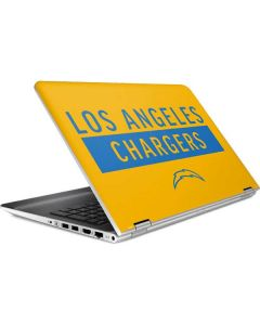 Los Angeles Chargers Yellow Performance Series HP Pavilion Skin