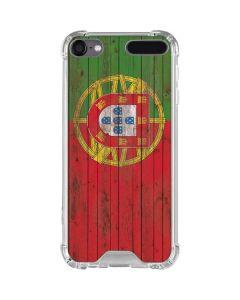 Portuguese Flag Dark Wood iPod Touch (5th-6th-7th Gen) Clear Case