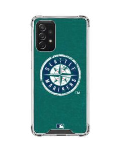 Seattle Mariners- Alternate Solid Distressed Galaxy A72 5G Clear Case