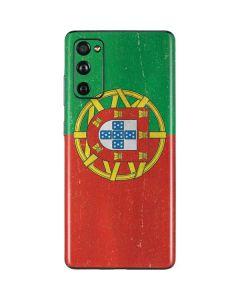 Portugal Flag Distressed Galaxy S20 Fan Edition Skin