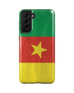 Cameroon Flag Distressed Galaxy S21 Plus 5G Case