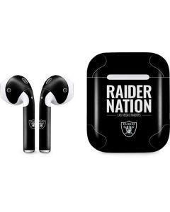 Las Vegas Raiders Team Motto Apple AirPods Skin