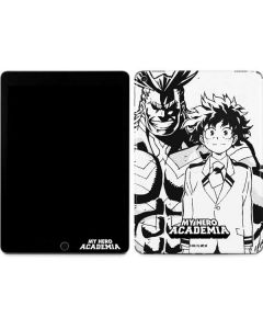 All Might and Deku Black And White Apple iPad Air Skin