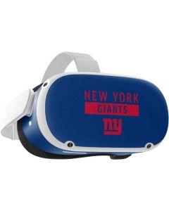 New York Giants Blue Performance Series Oculus Quest 2 Skin