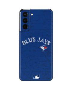 Toronto Blue Jays Solid Distressed Galaxy S21 5G Skin