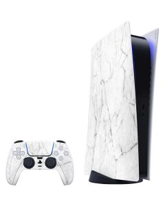 White Marble PS5 Digital Edition Bundle Skin