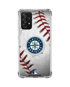 Seattle Mariners Game Ball Galaxy A72 5G Clear Case