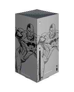 Cyborg Comic Pop Xbox Series X Console Skin