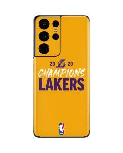 2020 Champions Lakers Galaxy S21 Ultra 5G Skin
