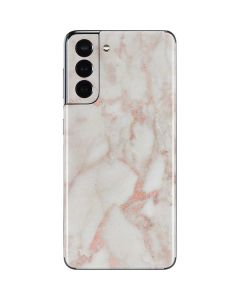 Rose Gold Marble Galaxy S21 5G Skin