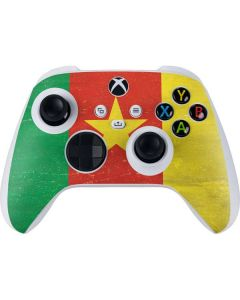 Cameroon Flag Distressed Xbox Series S Controller Skin