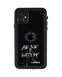 Black and White Black Widow iPhone 11 Waterproof Case