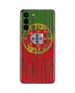 Portuguese Flag Dark Wood Galaxy S21 5G Skin