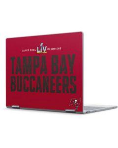 Super Bowl LV Champions Tampa Bay Buccaneers Pixelbook Skin