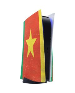Cameroon Flag Distressed PS5 Console Skin