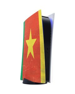 Cameroon Flag Distressed PS5 Digital Edition Console Skin
