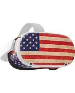 Distressed American Flag Oculus Quest 2 Skin