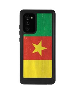 Cameroon Flag Distressed Galaxy Note20 5G Waterproof Case
