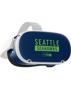 Seattle Seahawks Blue Performance Series Oculus Quest 2 Skin