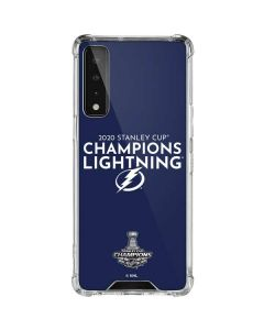 2020 Stanley Cup Champions Lightning LG Stylo 7 5G Clear Case