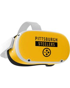 Pittsburgh Steelers Yellow Performance Series Oculus Quest 2 Skin