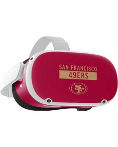 San Francisco 49ers Red Performance Series Oculus Quest 2 Skin