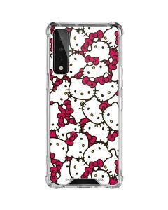 Hello Kitty Multiple Bows Pink LG Stylo 7 5G Clear Case