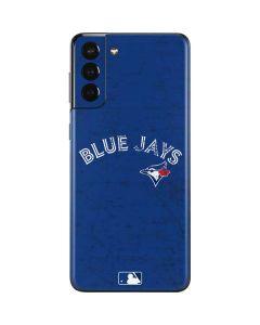 Toronto Blue Jays Solid Distressed Galaxy S21 Plus 5G Skin