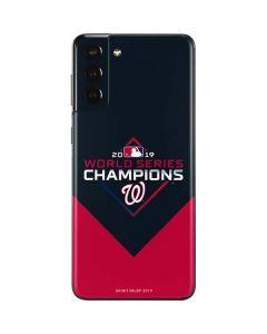 Washington Nationals 2019 World Series Champions Galaxy S21 Plus 5G Skin