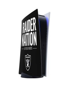 Las Vegas Raiders Team Motto PS5 Digital Edition Console Skin