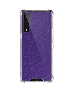 Diamond Purple Glitter LG Stylo 7 5G Clear Case