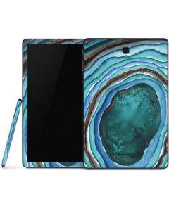 Turquoise Watercolor Geode Samsung Galaxy Tab Skin
