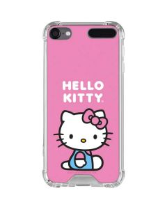 Hello Kitty Sitting Pink iPod Touch (5th-6th-7th Gen) Clear Case