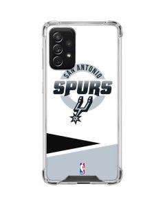 San Antonio Spurs Split Galaxy A72 5G Clear Case