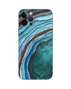 Turquoise Watercolor Geode iPhone 12 Pro Max Skin