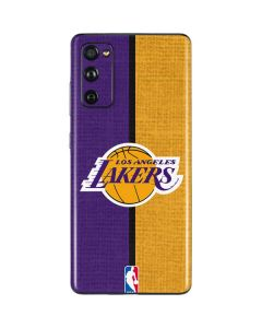 Los Angeles Lakers Canvas Galaxy S20 Fan Edition Skin