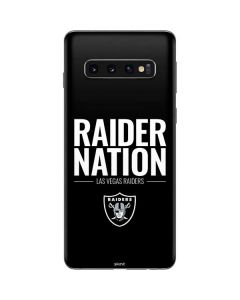 Las Vegas Raiders Team Motto Galaxy S10 Skin