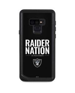 Las Vegas Raiders Team Motto Galaxy Note 9 Waterproof Case