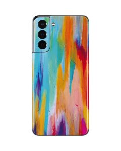 Multicolor Brush Stroke Galaxy S21 5G Skin